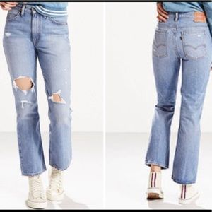 NWT Levi's 517 Bootcut Cropped Jeans